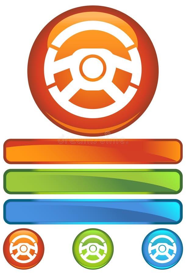 ikony koło pomarańczowy royalty ilustracja