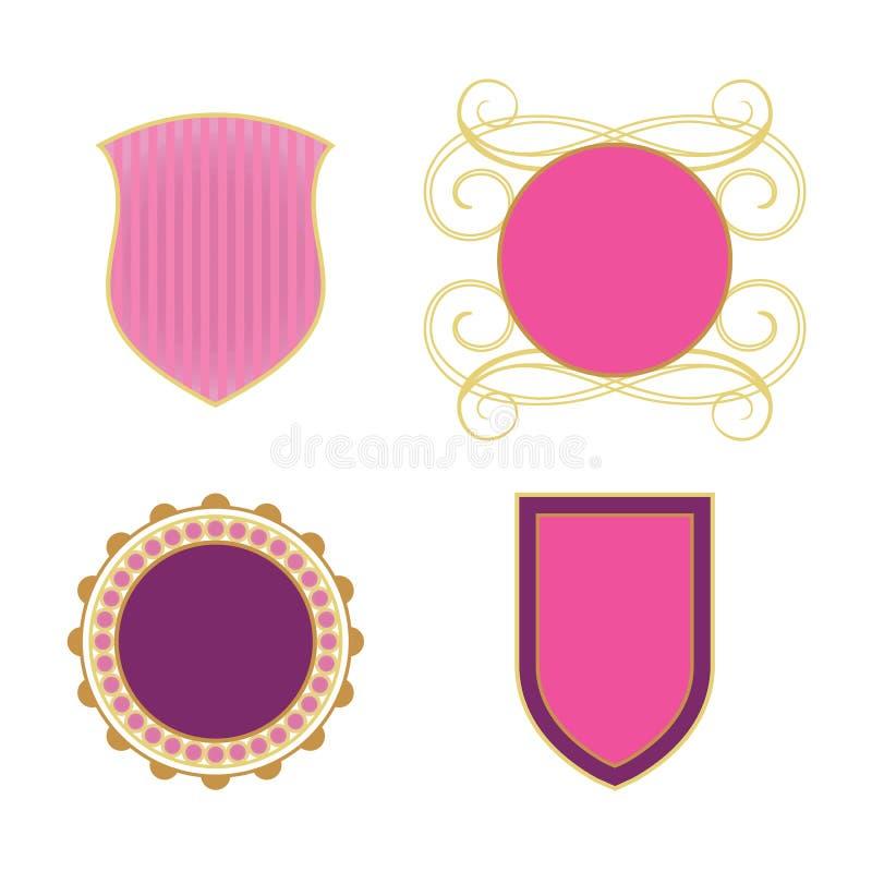 ikony królewskie royalty ilustracja