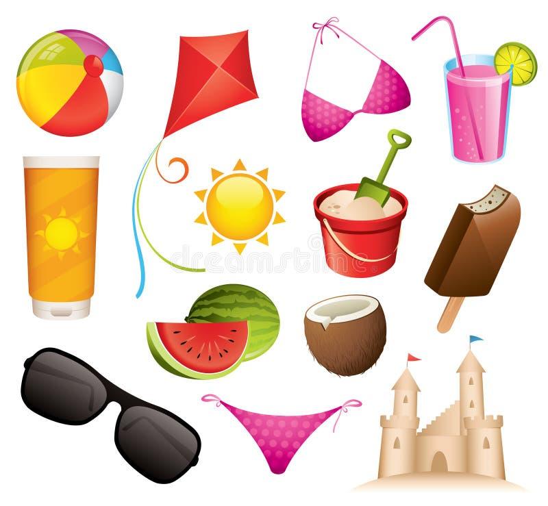 ikony lato royalty ilustracja