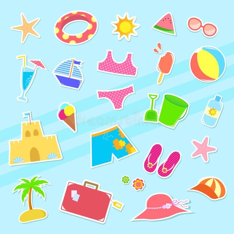 ikony lato ilustracja wektor
