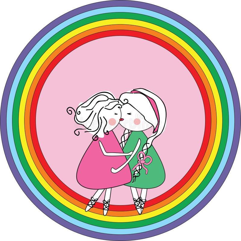 ikony lesbian ilustracja wektor