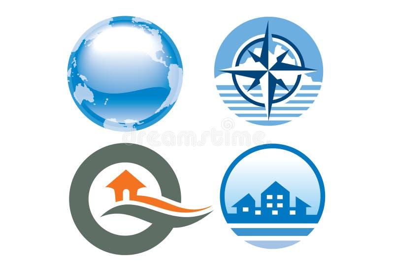 ikony loga podróż ilustracja wektor
