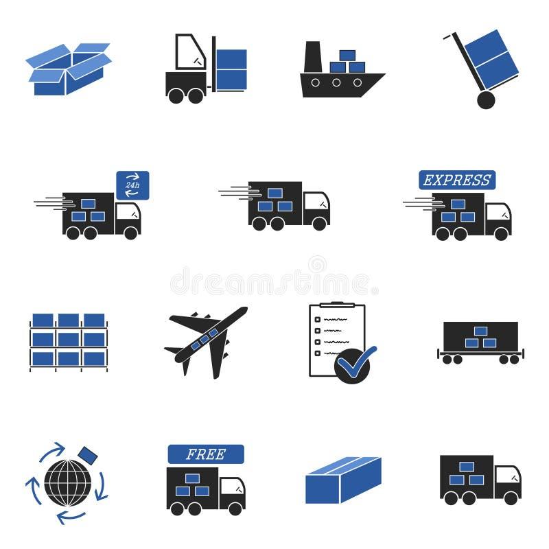 ikony logistycznie royalty ilustracja