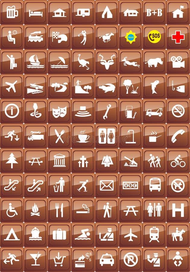 ikony lokacje ustawiający turysta