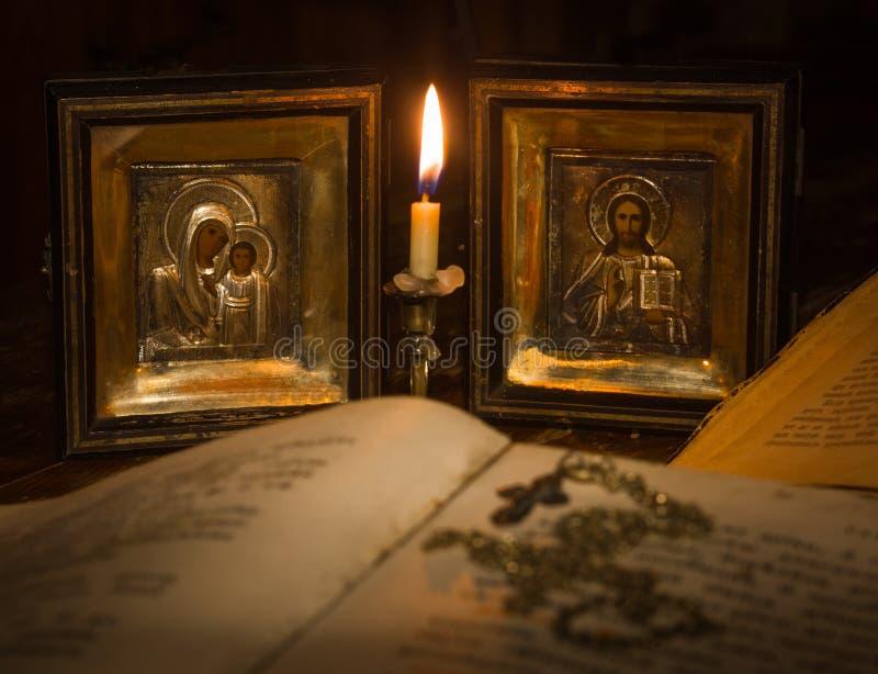 Ikony matka bóg i jezus chrystus fotografia royalty free