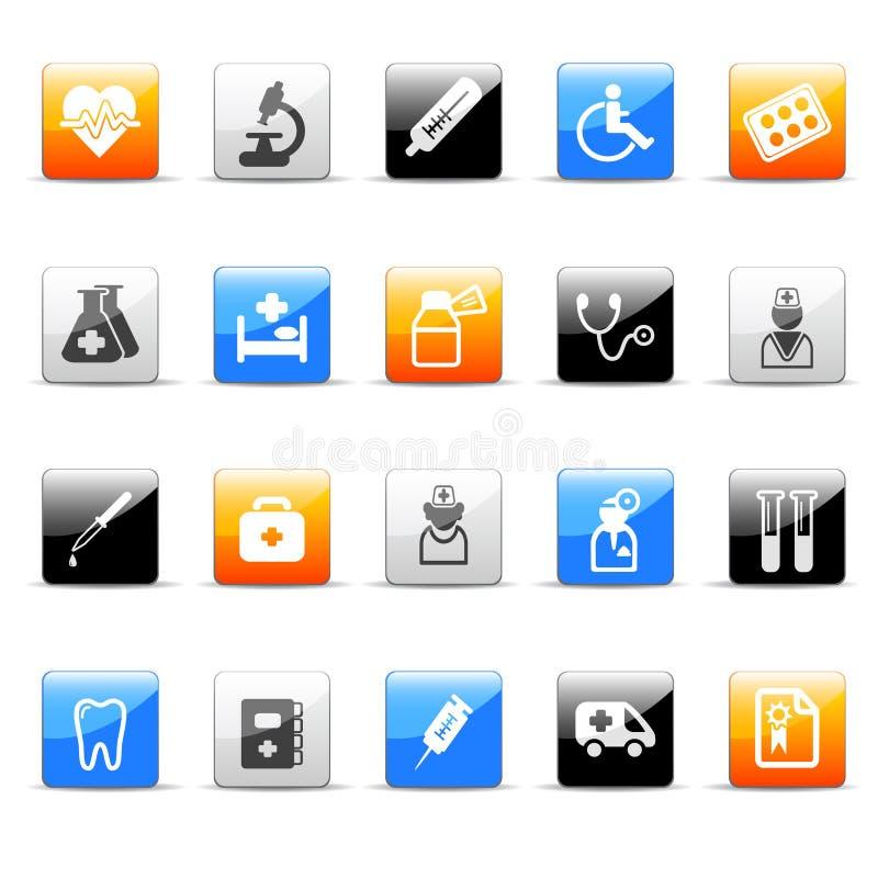 ikony medycyna ilustracja wektor