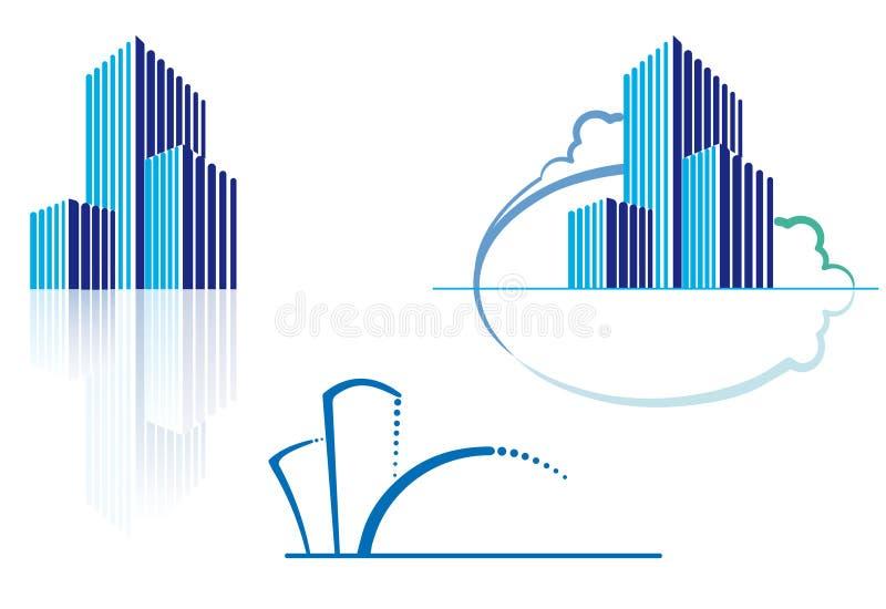 ikony miastowe ilustracji