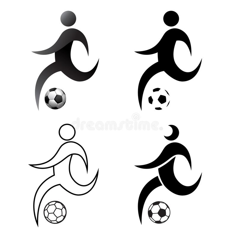 Ikony modlitewna piłka nożna, akcja, set, futbol, płaski projekt, prosty, royalty ilustracja