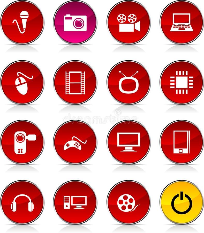 ikony multimedialne ilustracja wektor