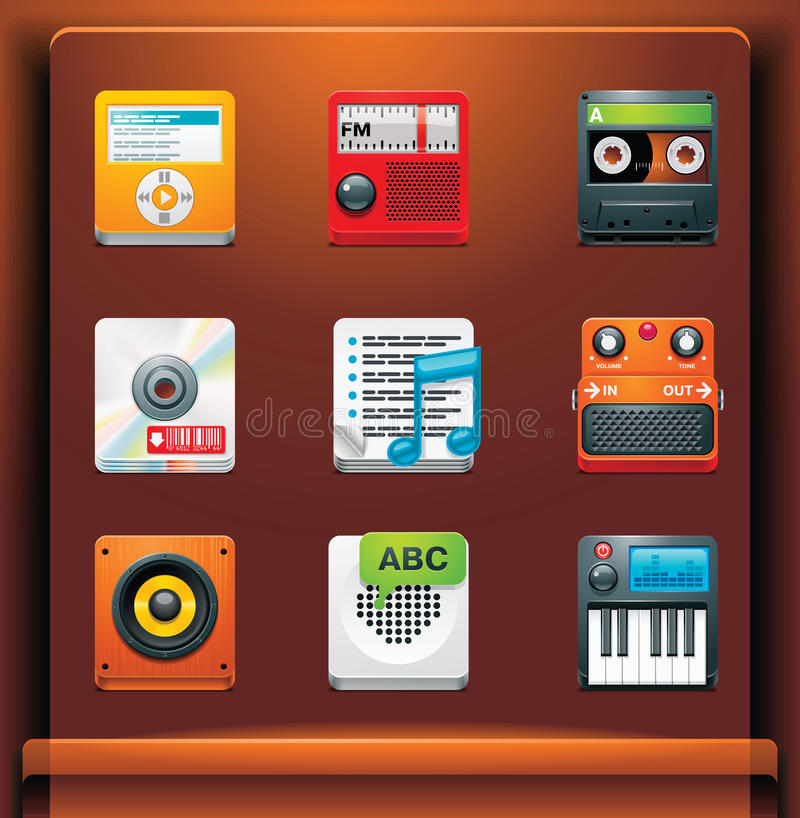 ikony multimedialne ilustracji