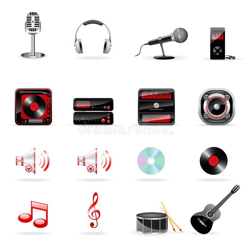 ikony muzyczny setu wektor ilustracja wektor