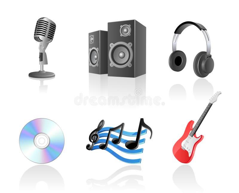 ikony muzyki set royalty ilustracja