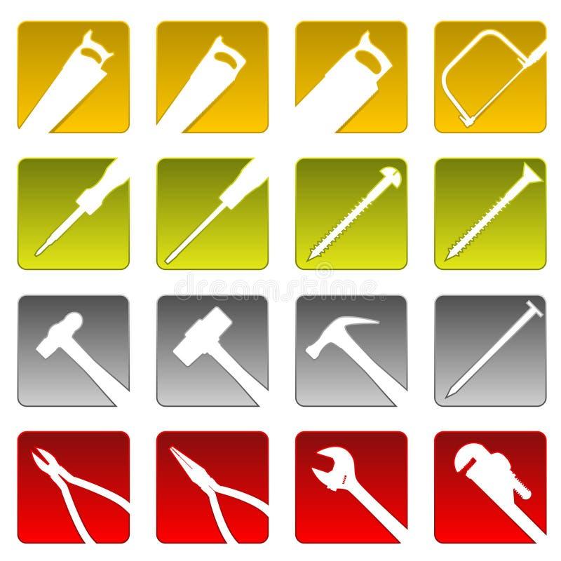 ikony narzędzie szesnaście royalty ilustracja