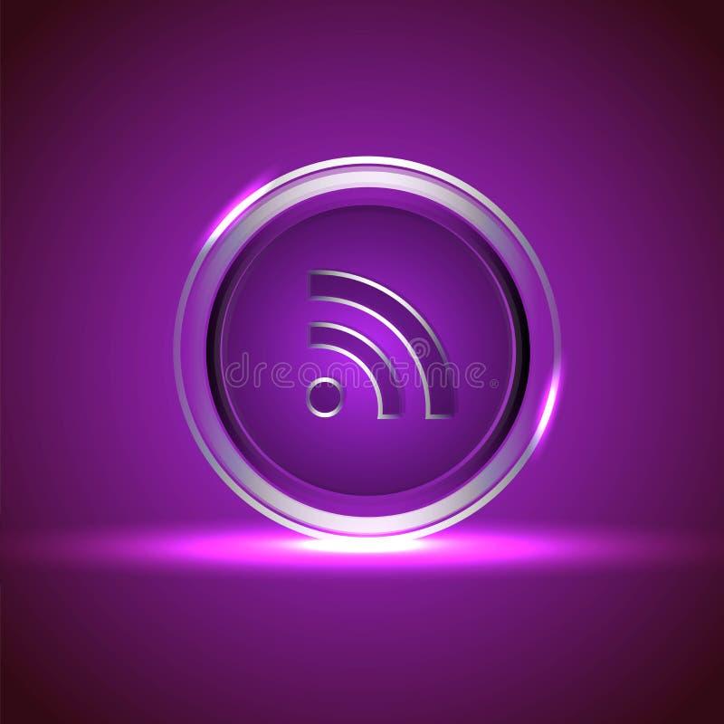 ikony networking błyszczący socjalny wektor royalty ilustracja