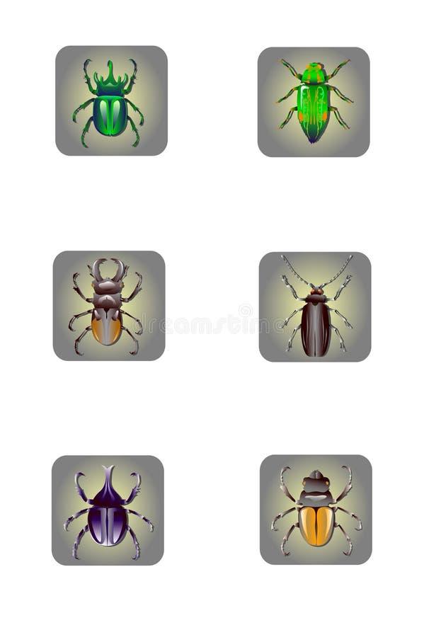 ikony nsect set royalty ilustracja
