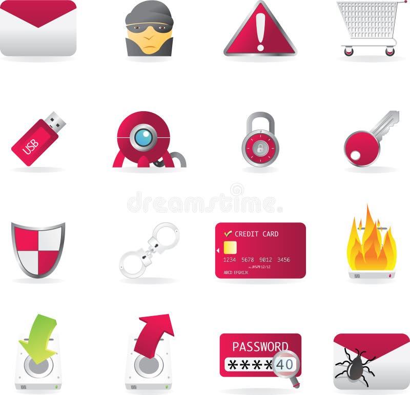 ikony ochrony serie ustawiają sieć zdjęcia stock