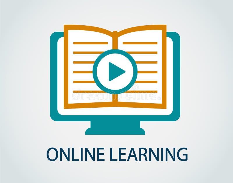 Ikony online nauka ilustracja wektor