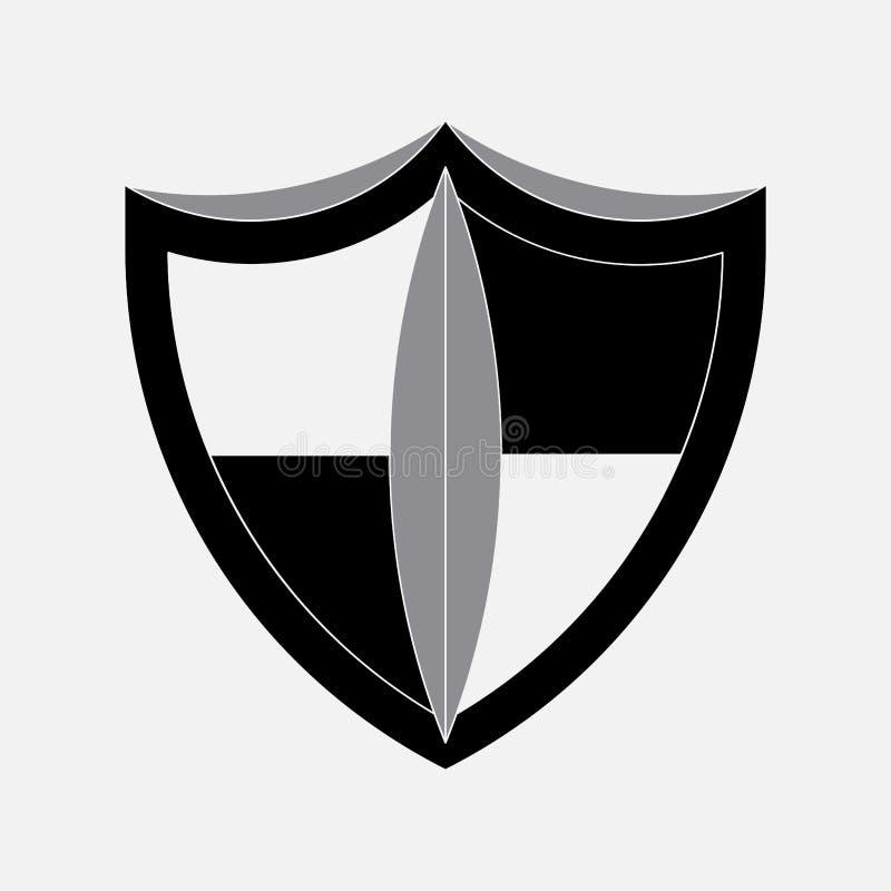 Ikony osłona, ochrona, bezpieczeństwo ilustracja wektor