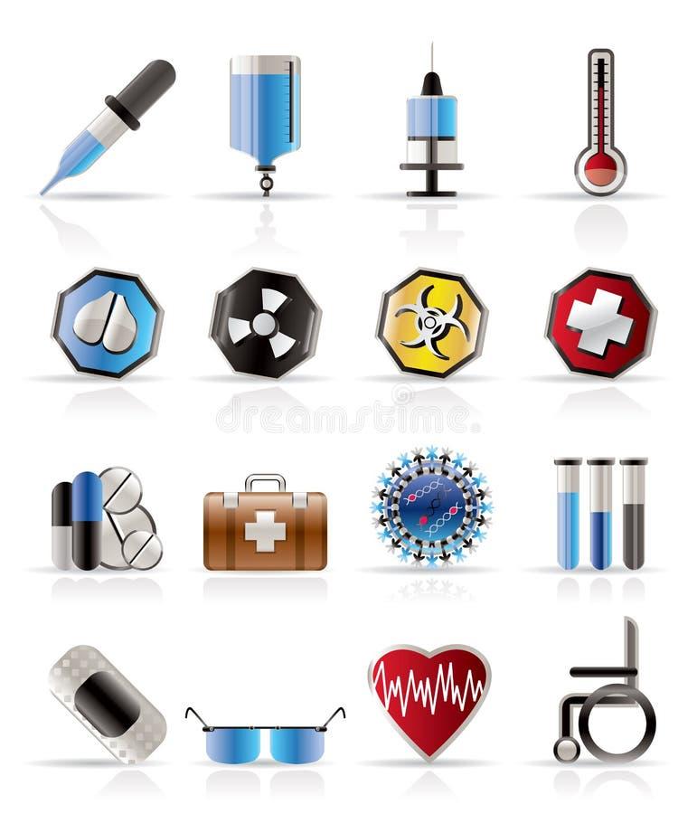 ikony ostrzeżenie medyczny realistyczny o temacie royalty ilustracja