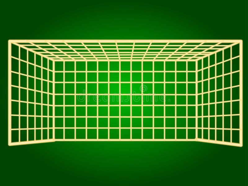 Ikony piłki nożnej brama cienieje linie ilustracji