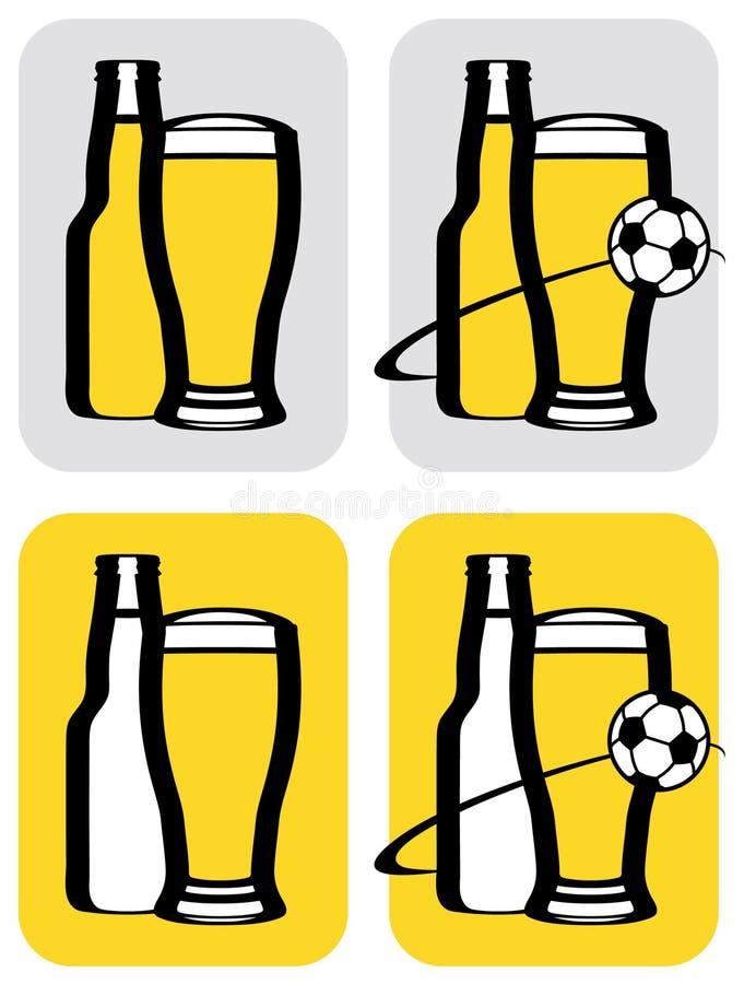 ikony piwna piłka nożna royalty ilustracja