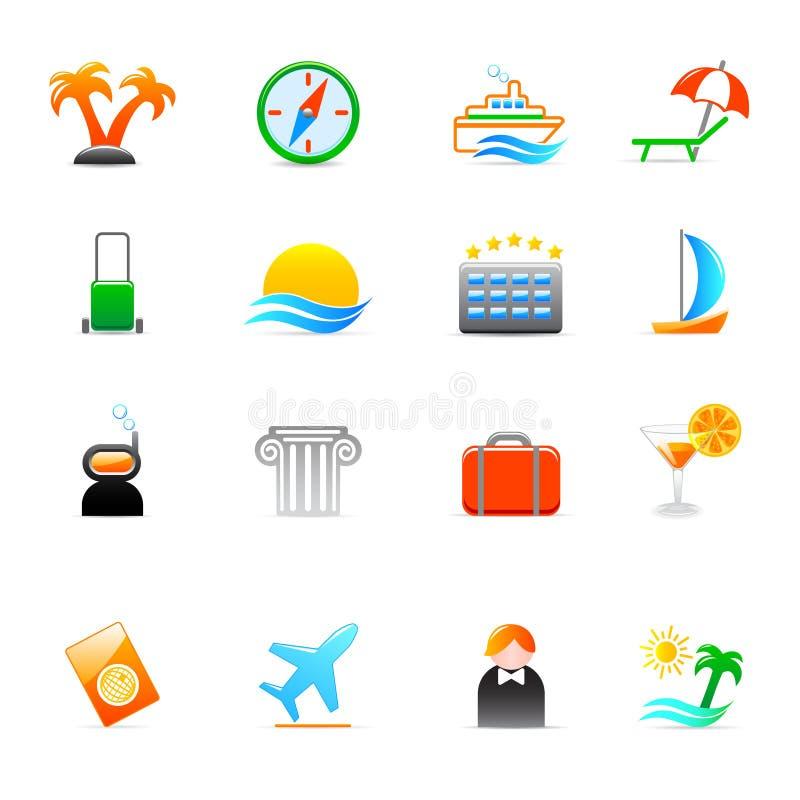 ikony podróż royalty ilustracja