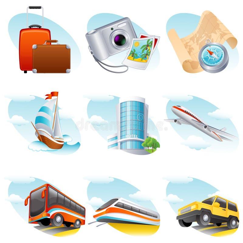 ikony podróż ilustracja wektor