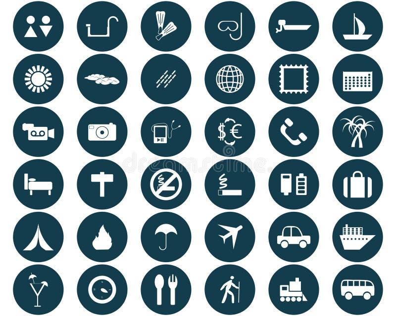 ikony podróż ustalona ilustracji