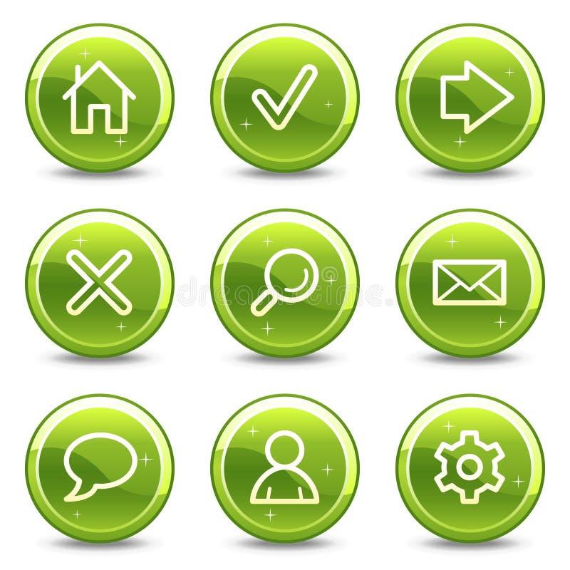 ikony podstawowy sieć ilustracja wektor