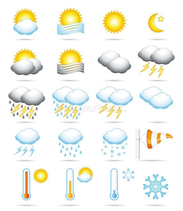 ikony pogoda ilustracja wektor