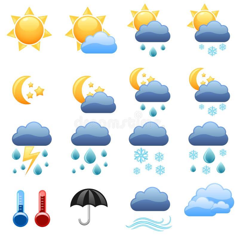 ikony pogoda ilustracji