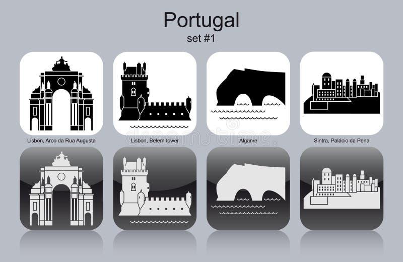 Ikony Portugalia royalty ilustracja