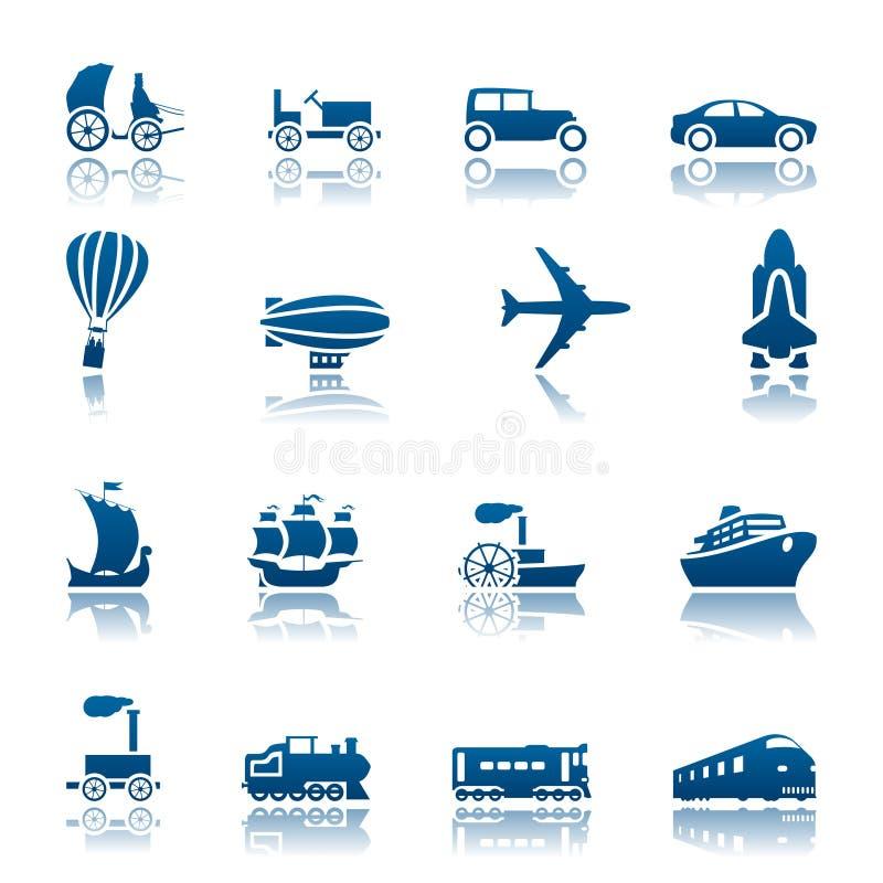 ikony postępu ustalony transport ilustracja wektor