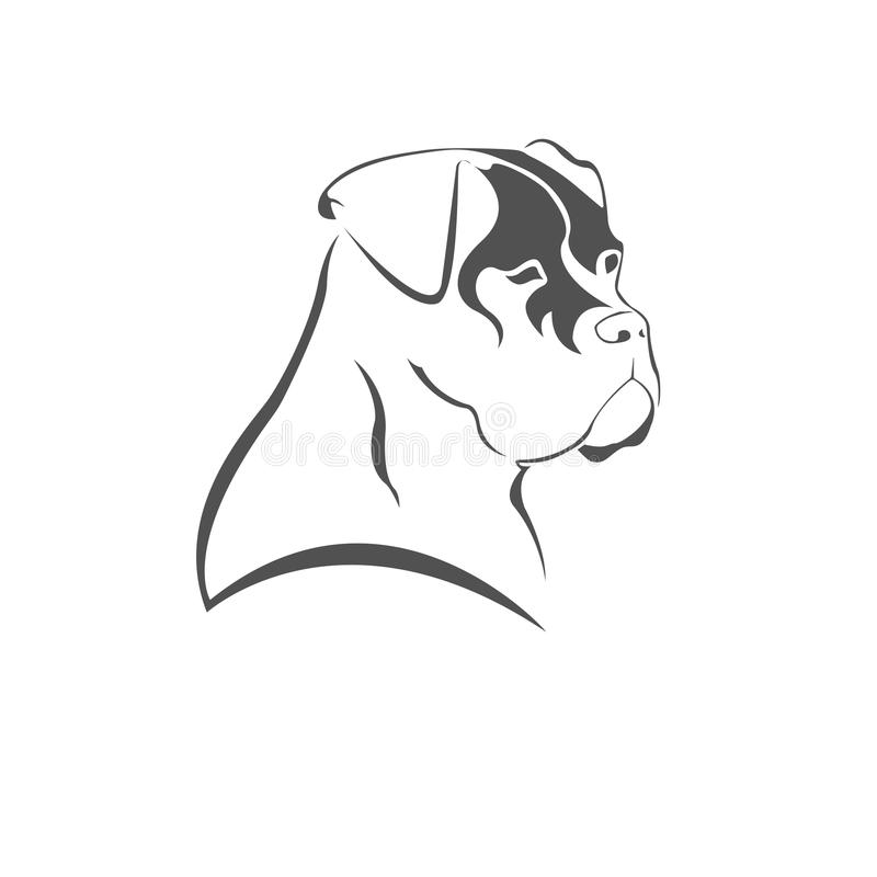 Ikony psiej głowy Ð ¡ ane Corso obrazy stock