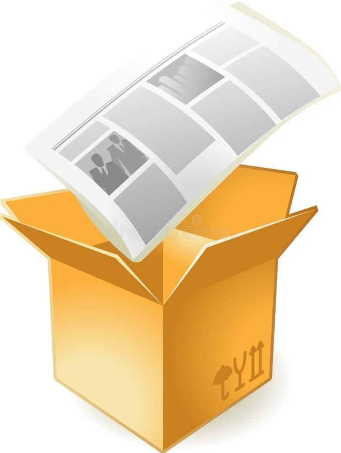 ikony pudełkowata gazeta ilustracji