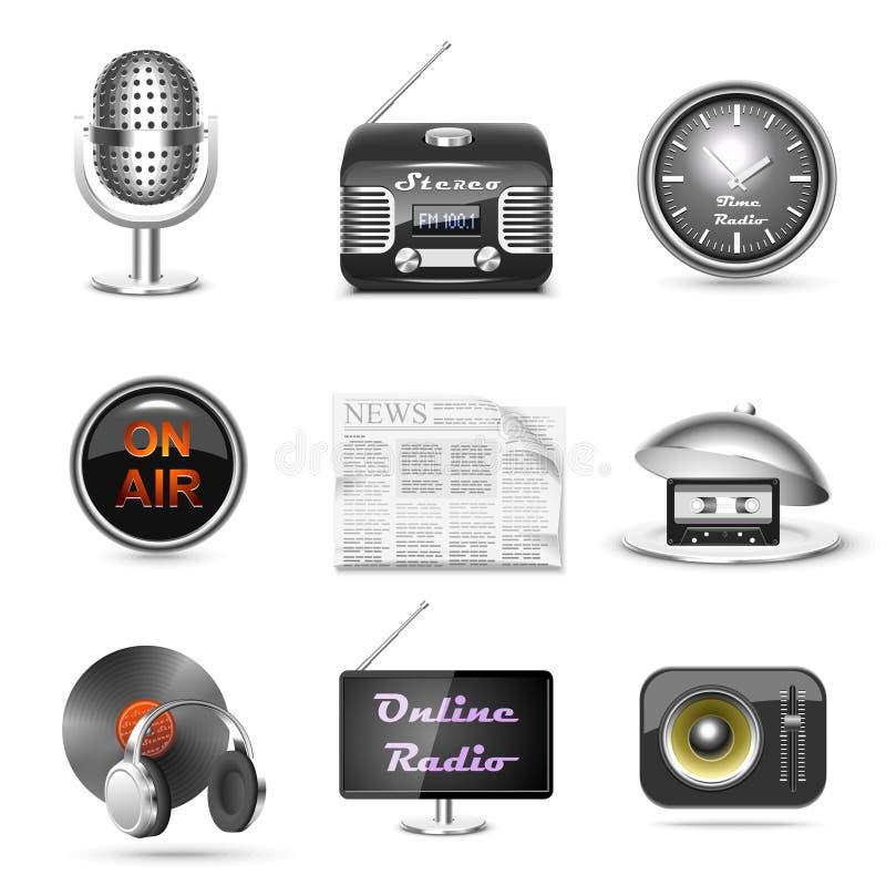 ikony radiowego setu staci wektor royalty ilustracja