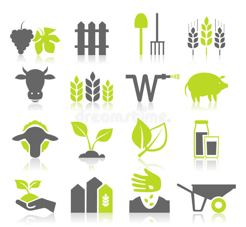 Ikony rolnictwo ilustracja wektor