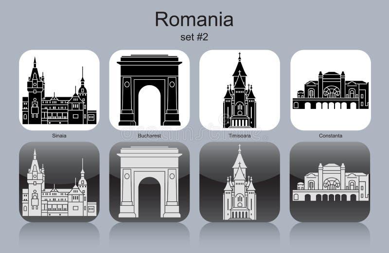 Ikony Rumunia royalty ilustracja