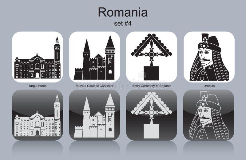 Ikony Rumunia ilustracji