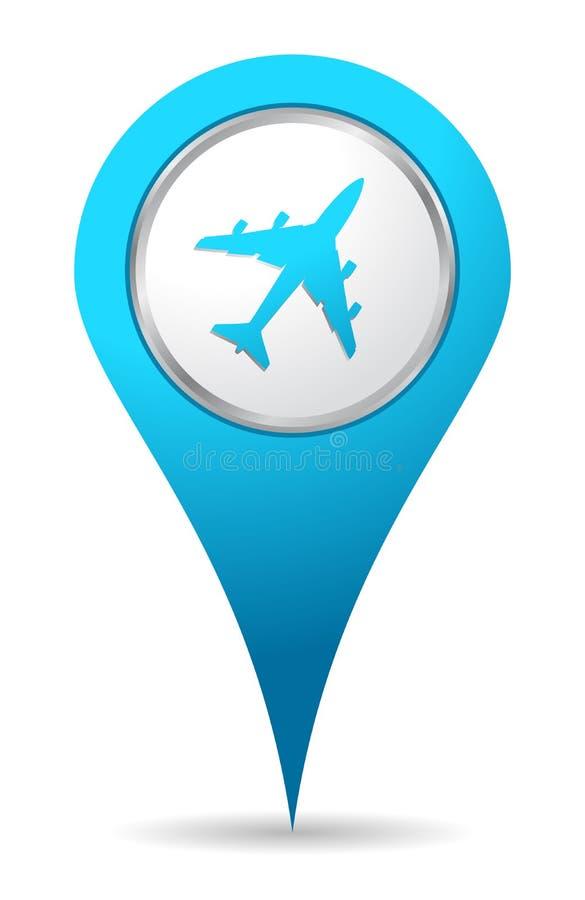 ikony samolotowa lokacja royalty ilustracja