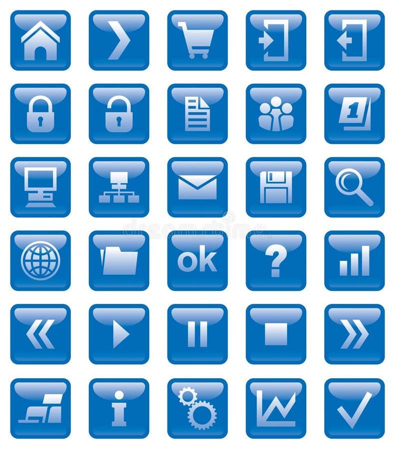 ikony sieć royalty ilustracja