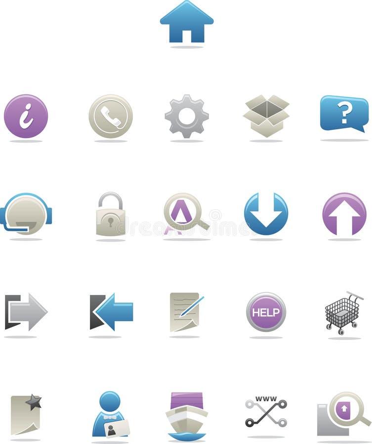 ikony sieć nowożytna wymuskana ilustracji