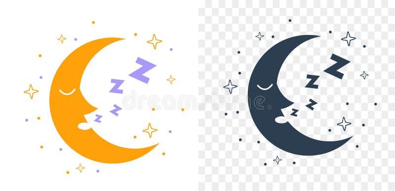 Ikony sylwetki księżyc ilustracja wektor