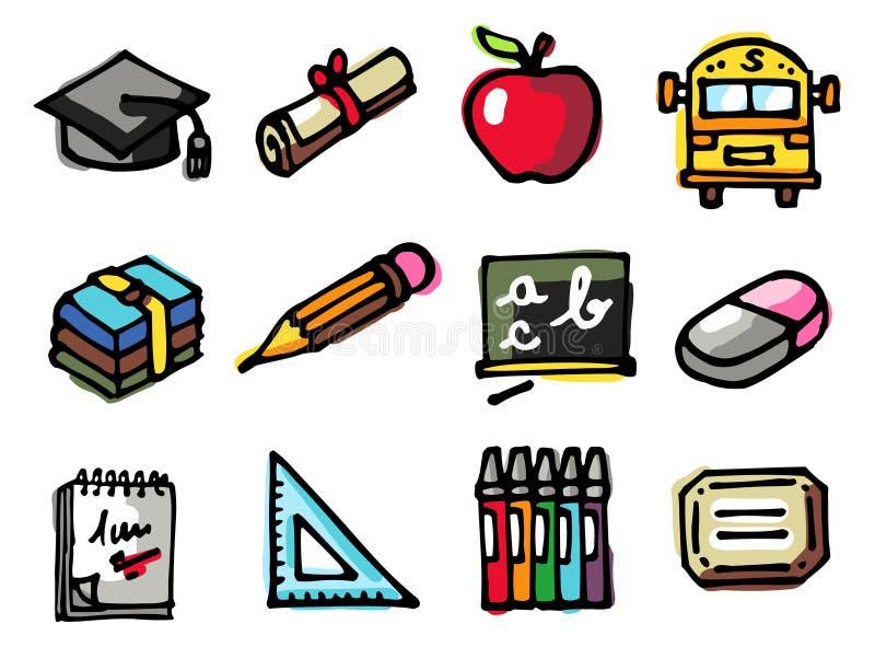 ikony szkoła ilustracja wektor