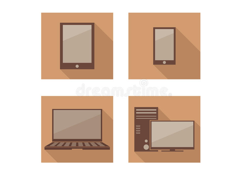 Ikony technologia royalty ilustracja