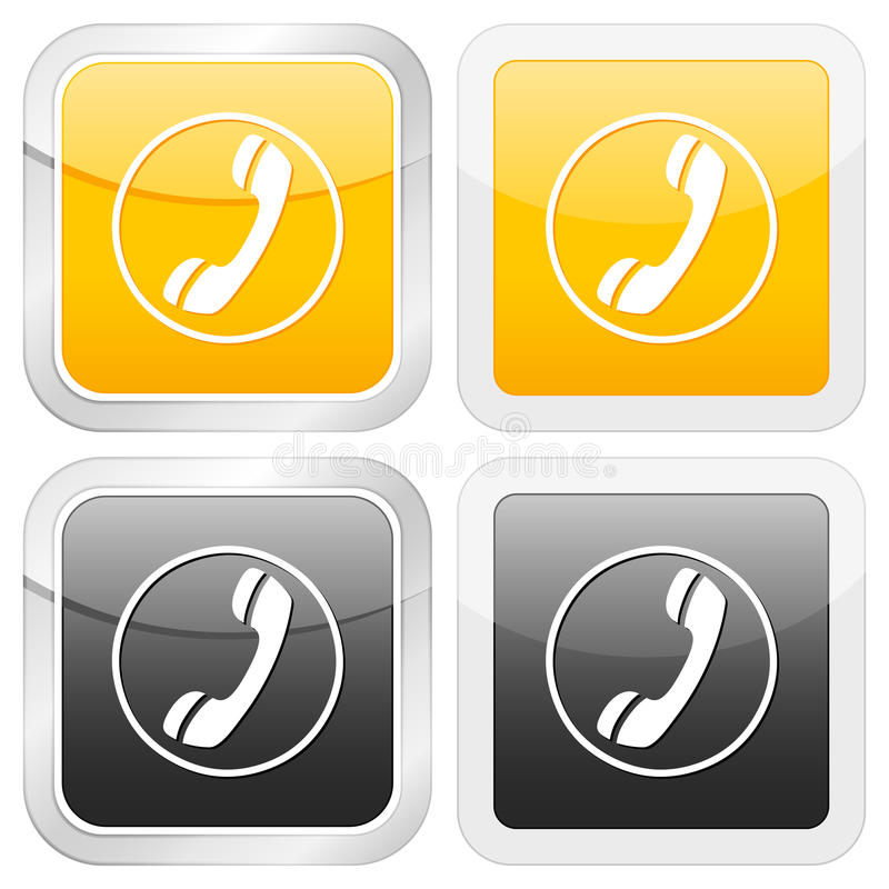 ikony telefonu kwadrat ilustracji