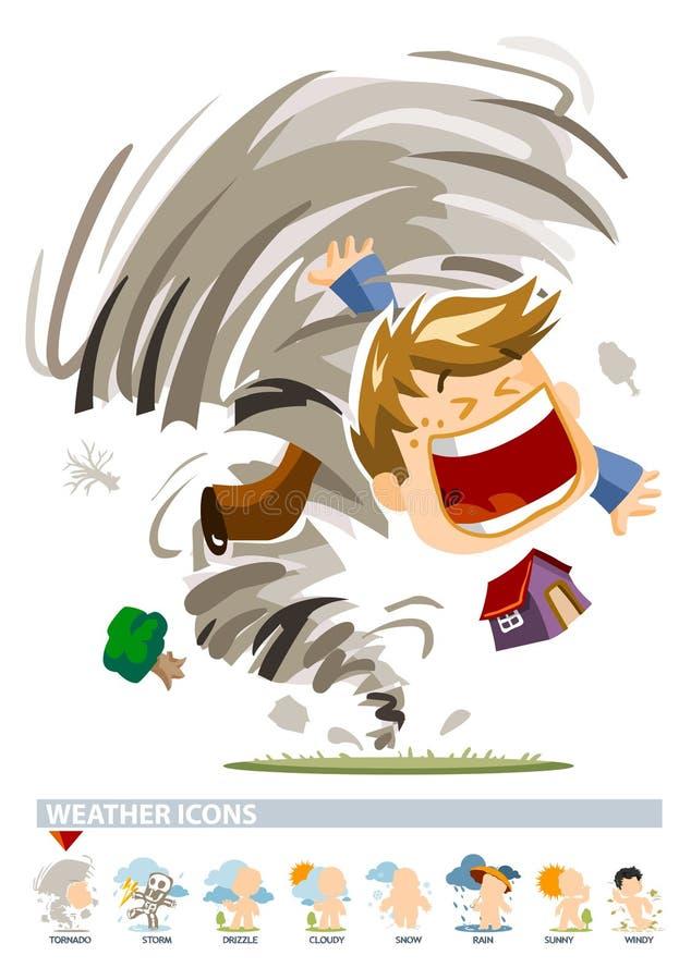 ikony tornada pogoda ilustracja wektor