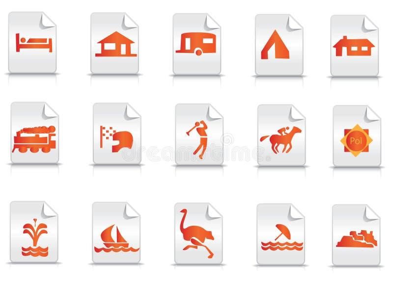 ikony turystyka ilustracja wektor