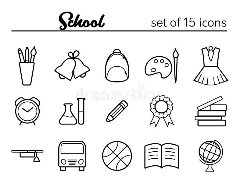 ikony uczą kogoś set ilustracji