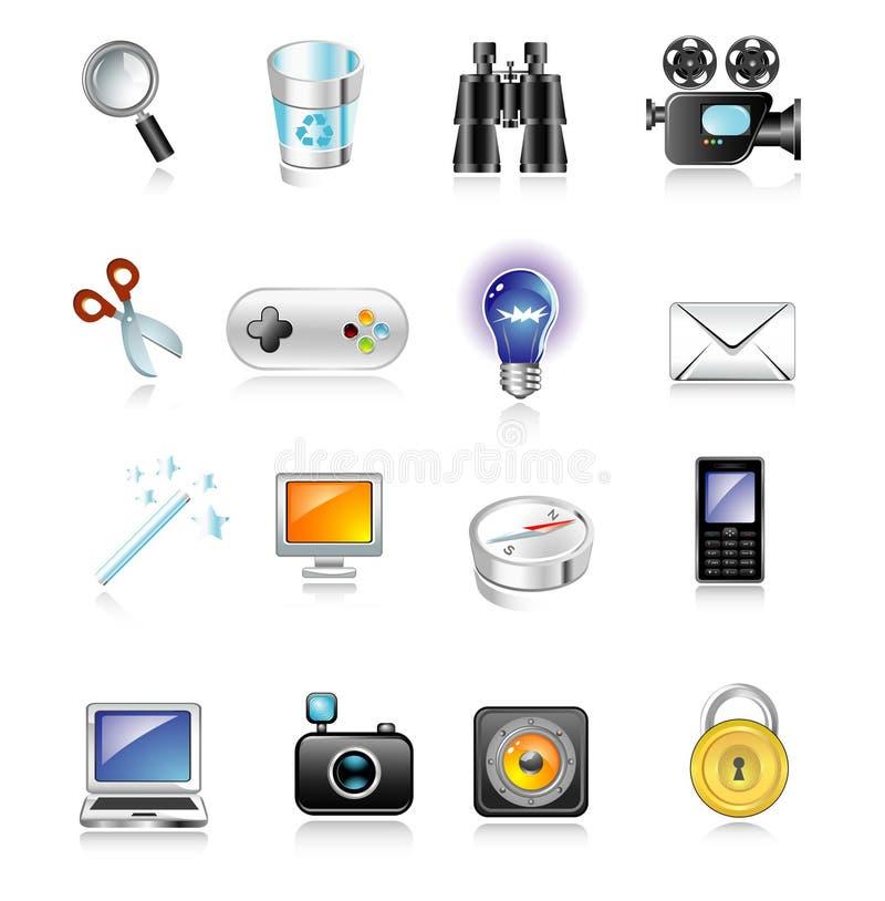 ikony ustalona sieć ilustracja wektor